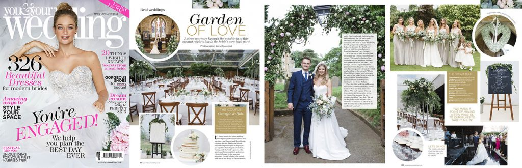 You & Your Wedding magazine real wedding feature.