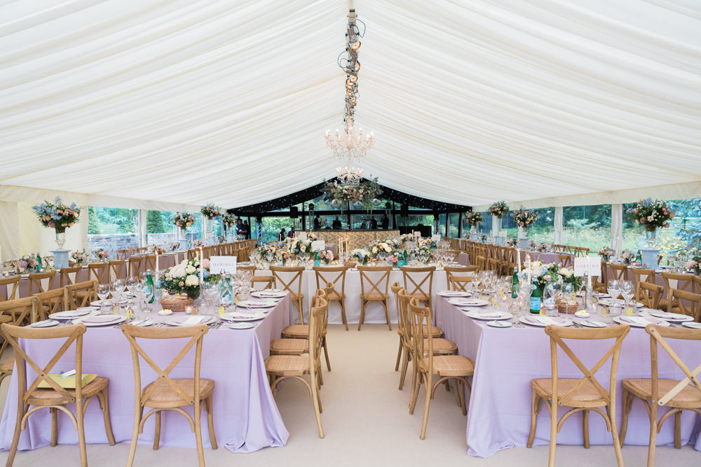 marquee wedding set up