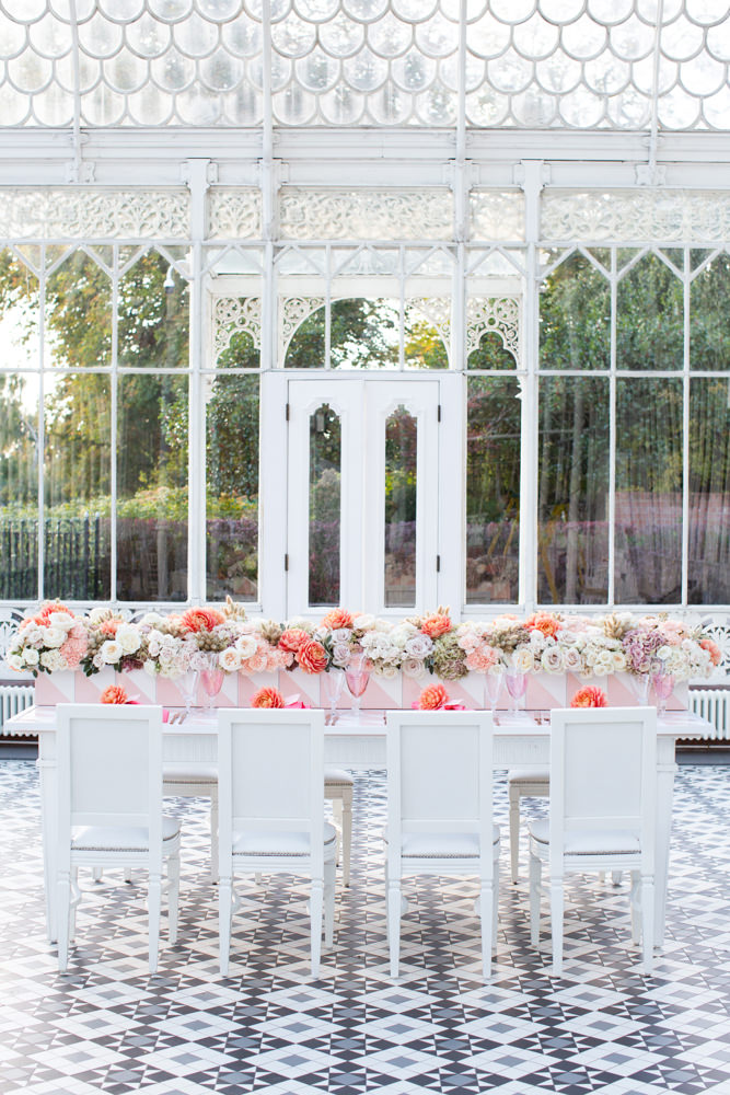 Table setting in the orangery at Horniman Museum