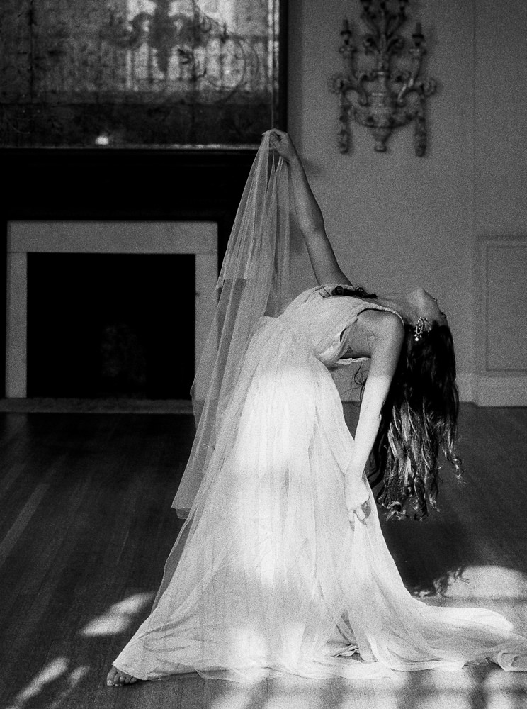 Bride dancing in ballroom at Cornwell Manor