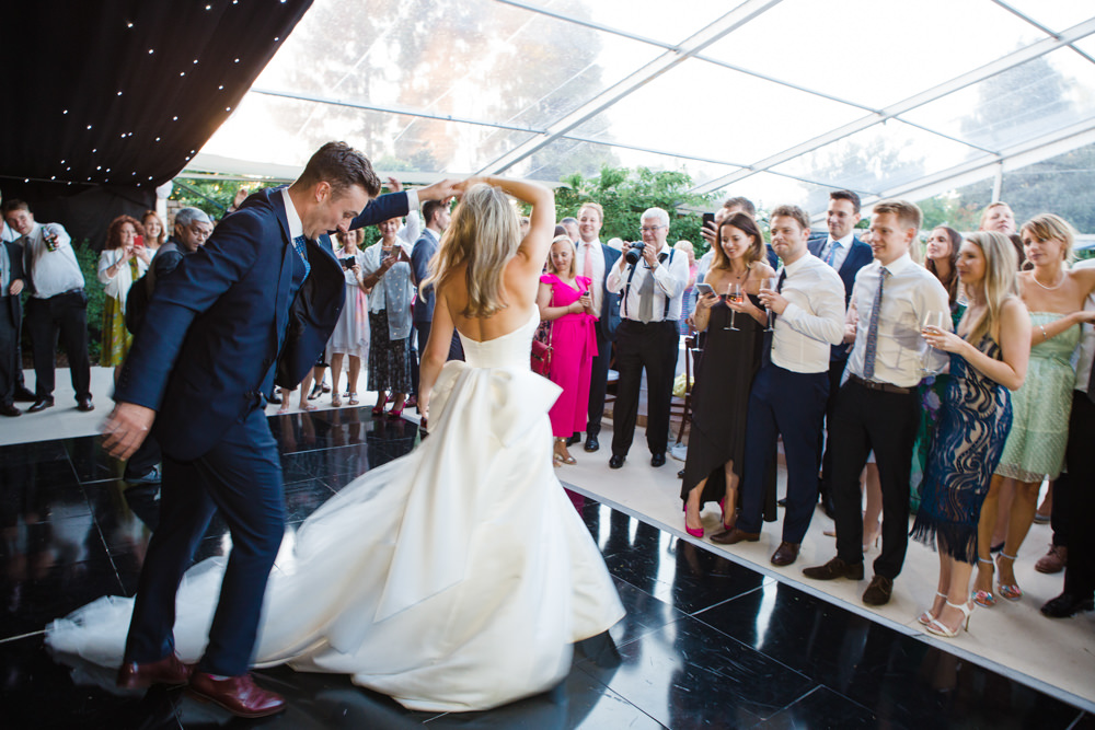 Bride and groom doing first dance