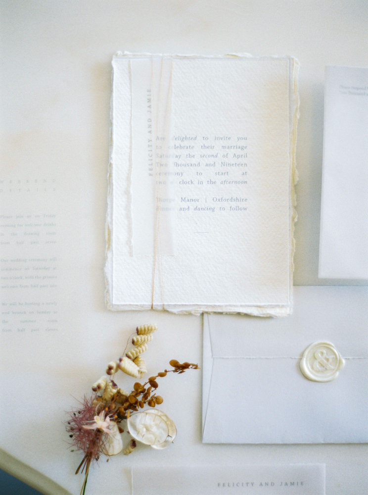 Vine in the Wild wedding stationery