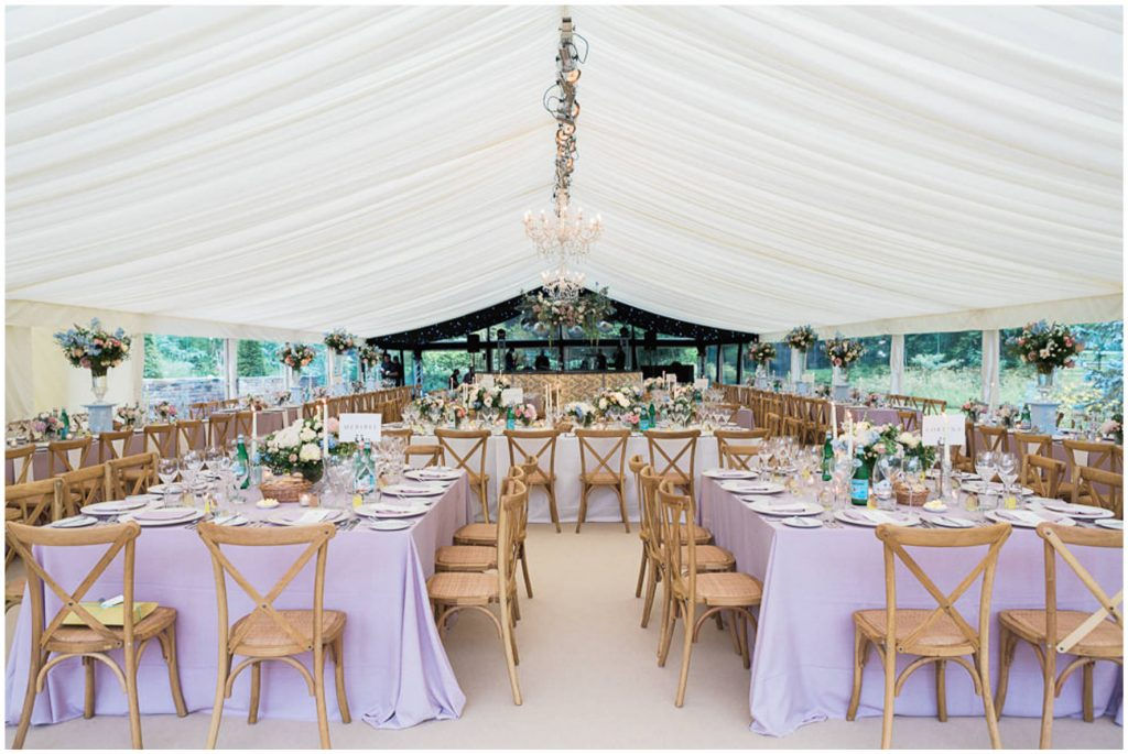 Good Intents marquee wedding breakfast