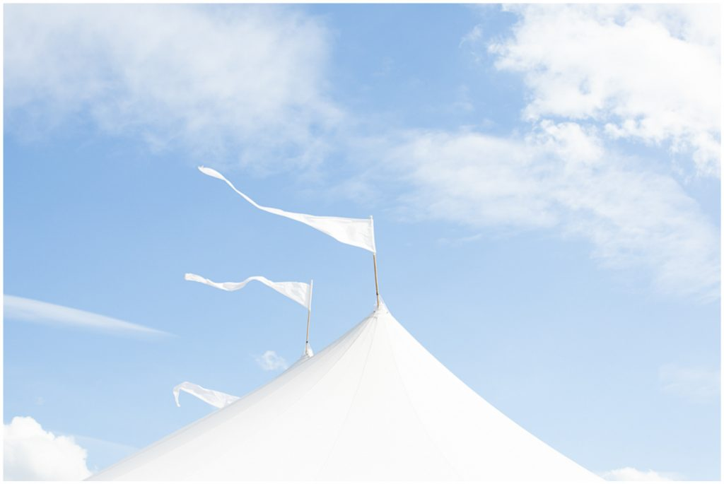 PapaKata wedding, sperry tent roof with the sky